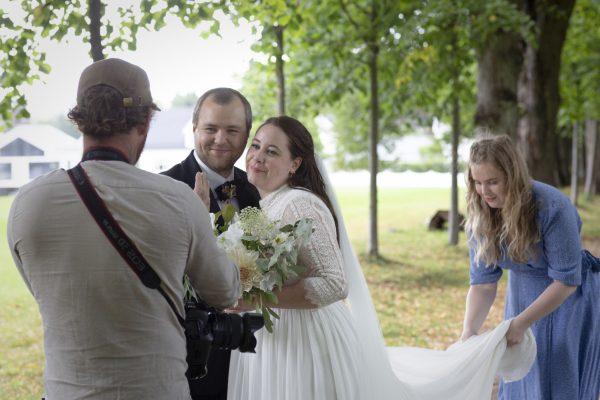 Situasjonsbilde fra bryllup